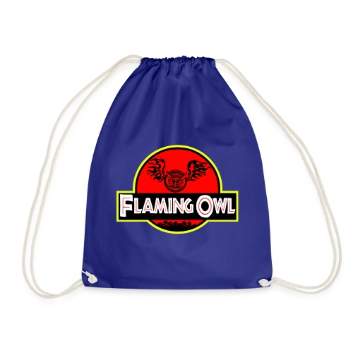 Flaming Jurassic Owl - Gymnastikpåse