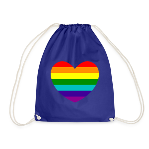 Hart in regenboog kleuren - Gymtas