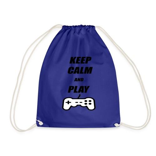Maglietta Keep Calm And Play bianca. - Sacca sportiva
