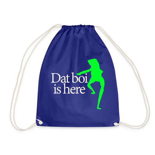 Dat boi shirt white writing - men - Drawstring Bag