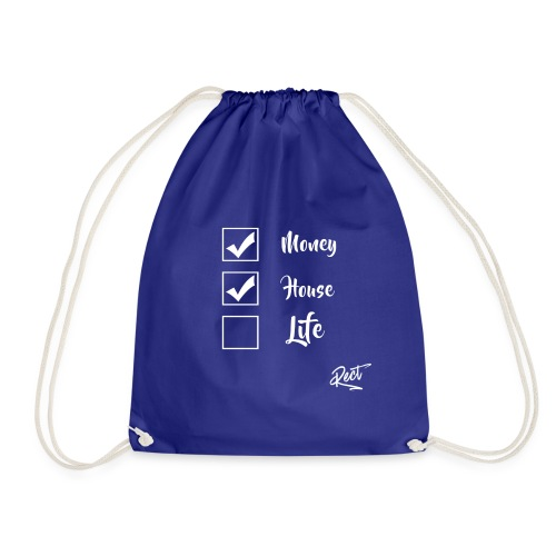 (BUT) MONEY HOUSE AND LIFE - Drawstring Bag