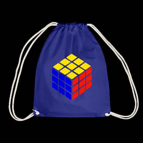 blue yellow red rubik's cube print - Gymtas
