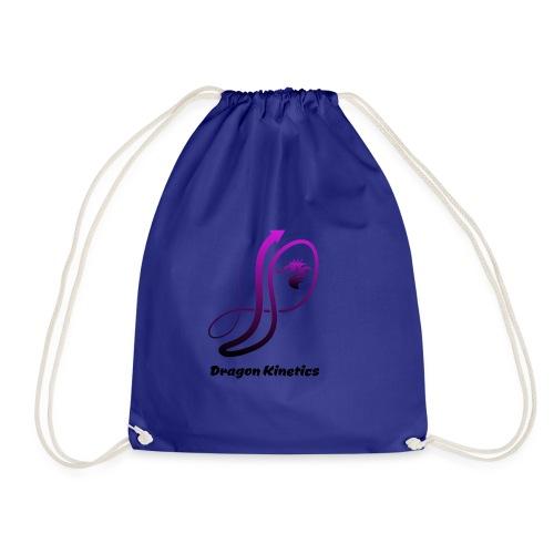 Dragon Kinetics purple logo - Drawstring Bag