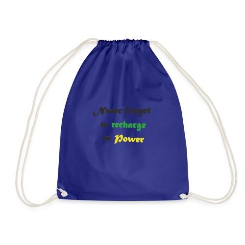 Recharge ur power saying in English - Drawstring Bag