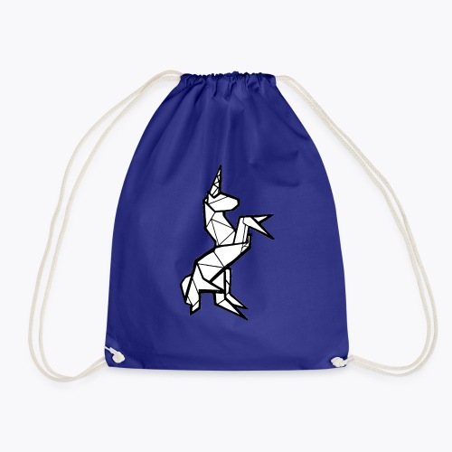 Geometric Unicorn - Drawstring Bag