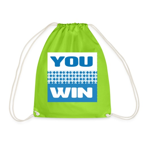 you win 21 - Drawstring Bag