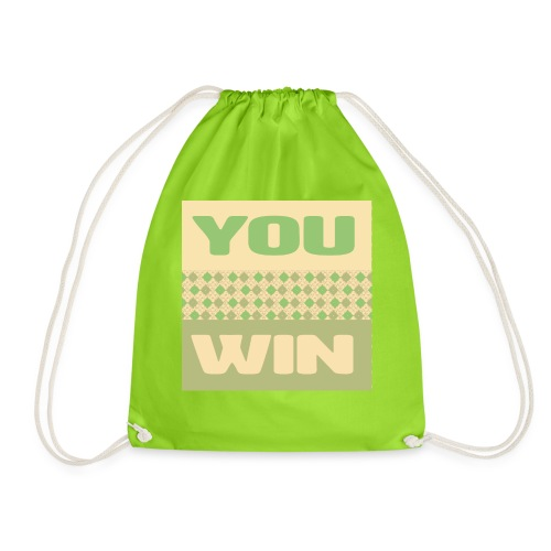 you win 12 - Drawstring Bag