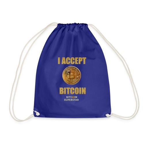 I accept bitcoin - Sacca sportiva