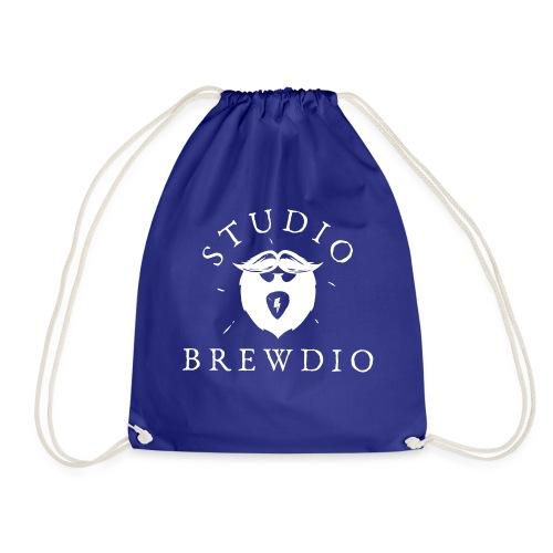 Studio Brewdio Logo White - Drawstring Bag