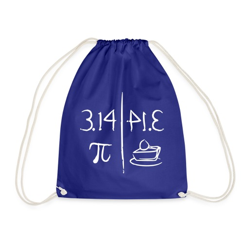 pi vs pie - Drawstring Bag