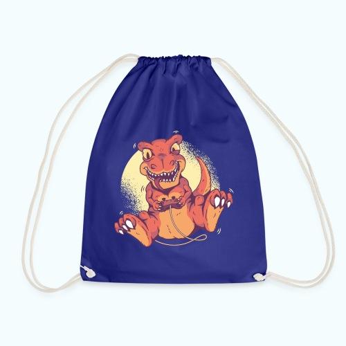 Funny Dino player - Drawstring Bag