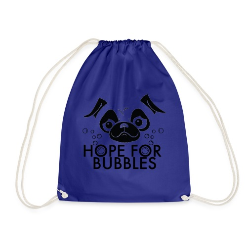 HOPE FOR BUBBLES BLACK MERCH - Gymtas