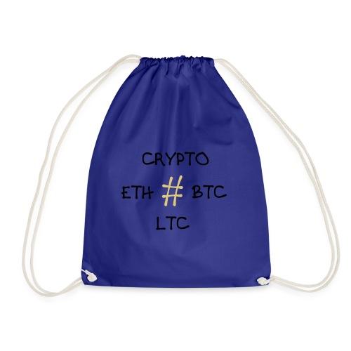 Kryptowährung, BTC, ETH, LTC - Turnbeutel