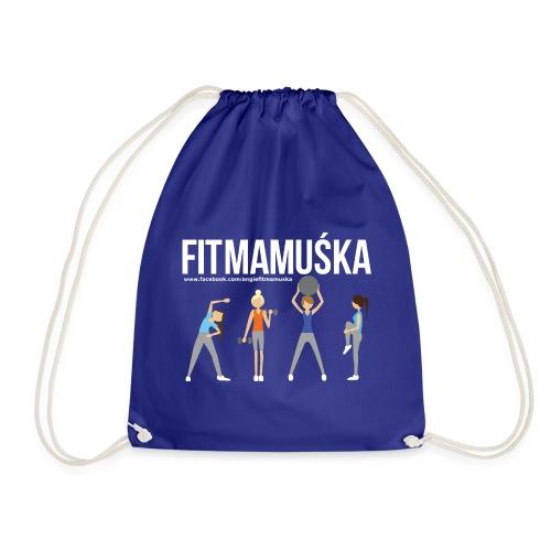 Fitmamuśka - Koszulka Czarna - Worek gimnastyczny