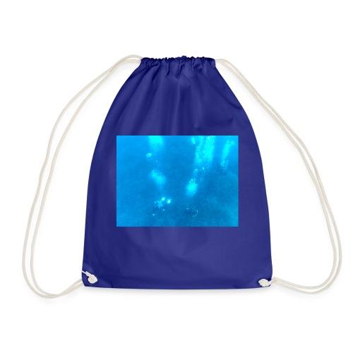 Taucher unter Wasser - Turnbeutel