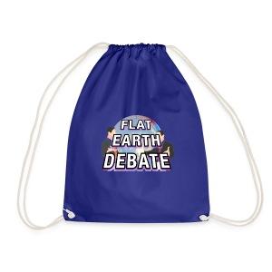Flat Earth Debate Solid - Drawstring Bag