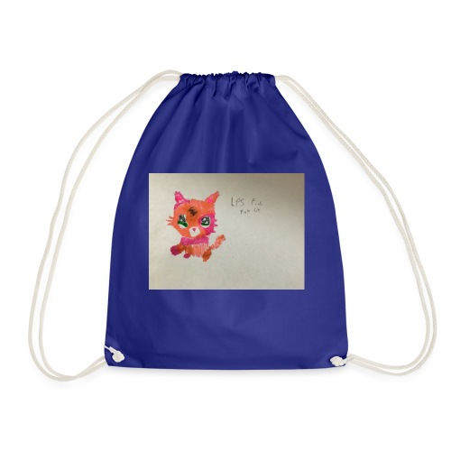 Little pet shop fox cat - Drawstring Bag