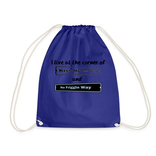 I_LIVE_AT_THE_CORNER_CUT_-2- - Drawstring Bag