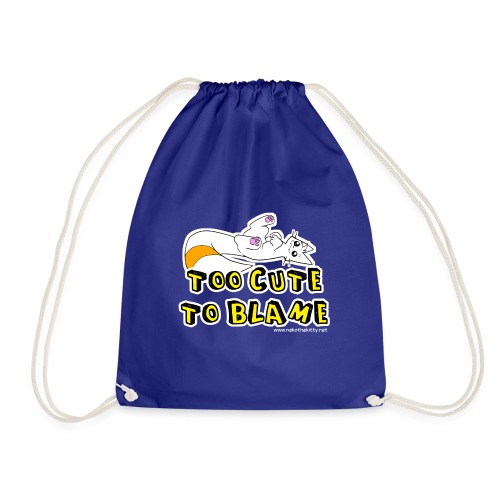 Too Cute To Blame - Drawstring Bag