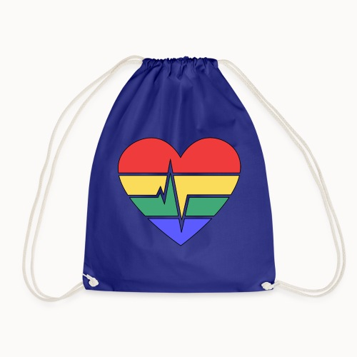 Rainbow Heart - Drawstring Bag