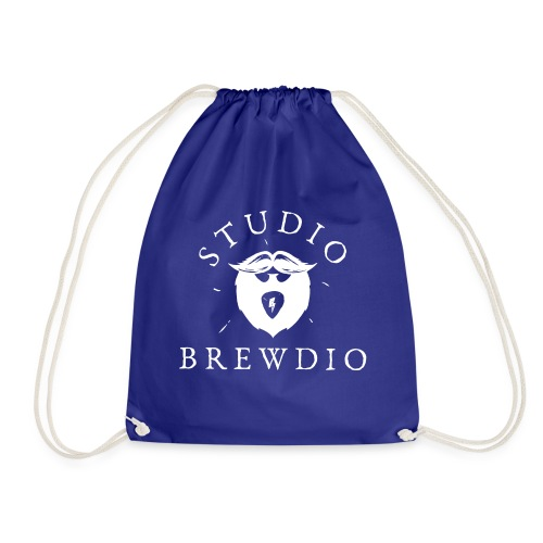 Studio Brewdio Logo White - Drawstring Bag