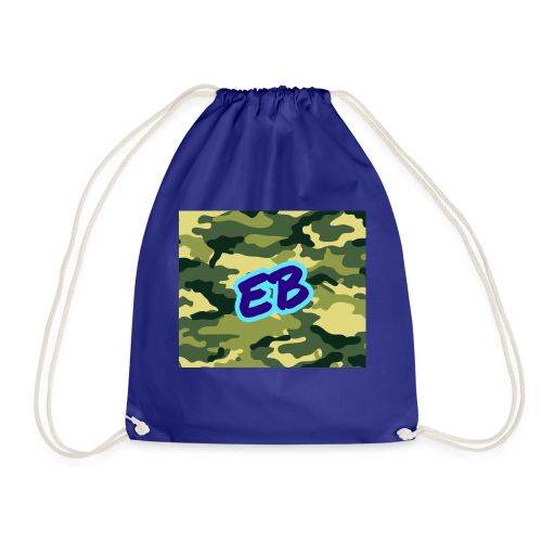 Ellibradyoffical green camo - Drawstring Bag