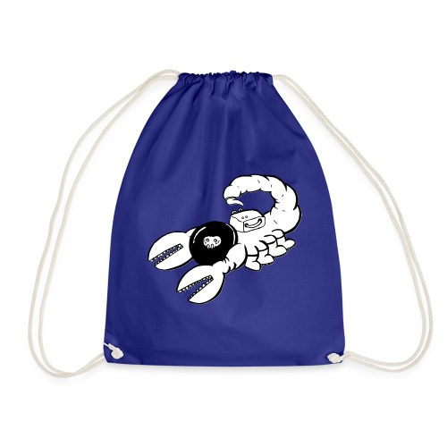 Space Scorpions?! (Black and White) - Drawstring Bag