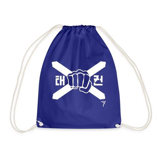 Scotland Taekwondo ITF fist and flag motif - Drawstring Bag