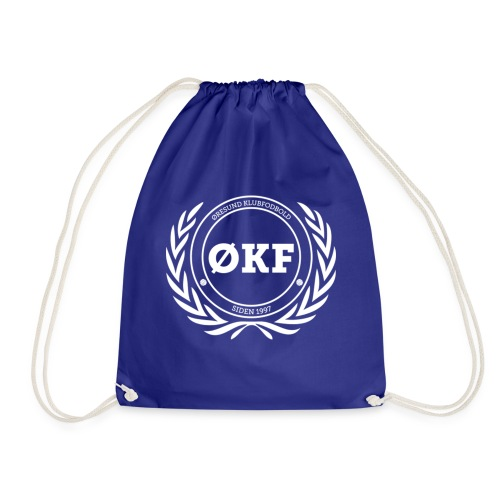 ØKF hvid logo - Sportstaske