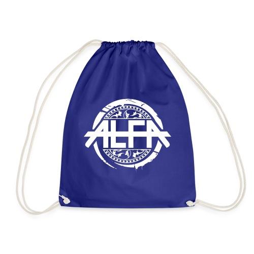 Alfa Logo weiss - Turnbeutel