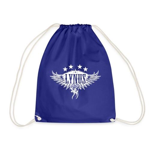 Large Lynus logo White - Drawstring Bag