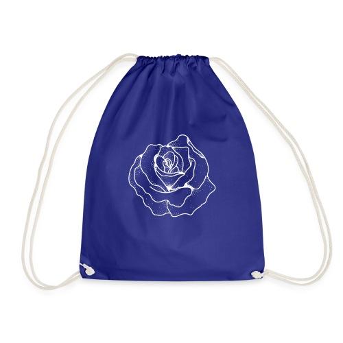Female Exclusive Rose Dot White V-Neck T-Shirt - Drawstring Bag