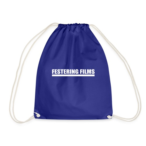 Festering Films Logo (White) - Drawstring Bag