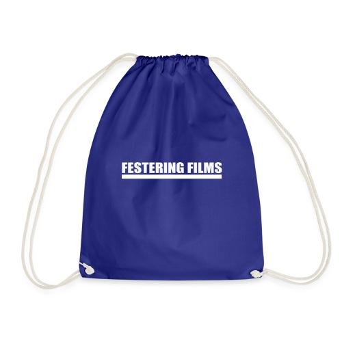 Festering Films Logo (White) - Drawstring Bag