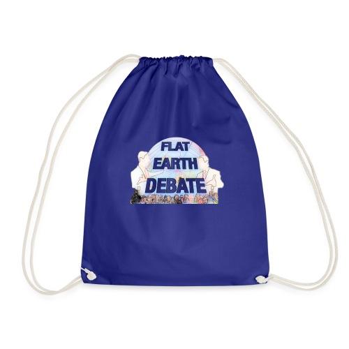 Flat Earth Debate Cartoon - Drawstring Bag