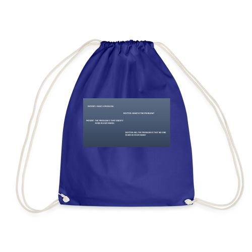 Running joke t-shirt - Drawstring Bag