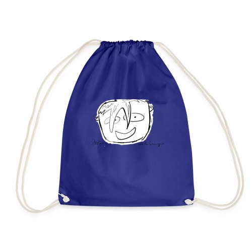 The Face Zoomed | Peter Eric Lang - Drawstring Bag