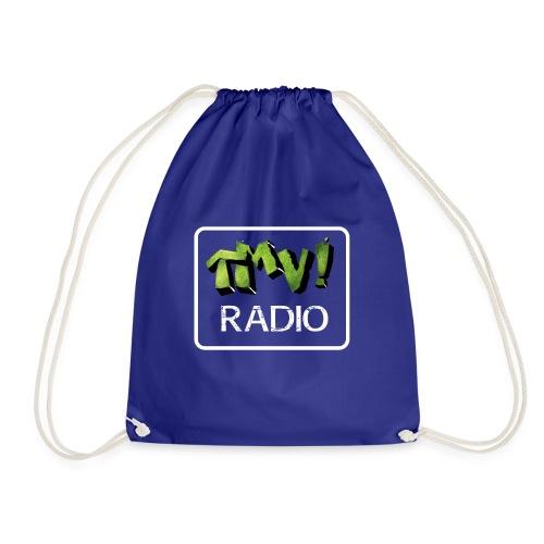TMV RADIO logo bianco - Sacca sportiva