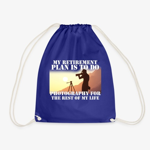 Retired Photographer - Drawstring Bag