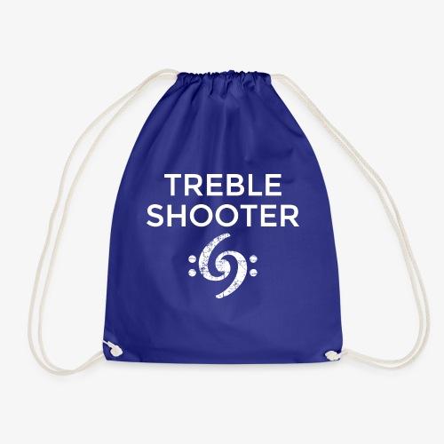 Treble Shooter Bass Design (White) - Turnbeutel
