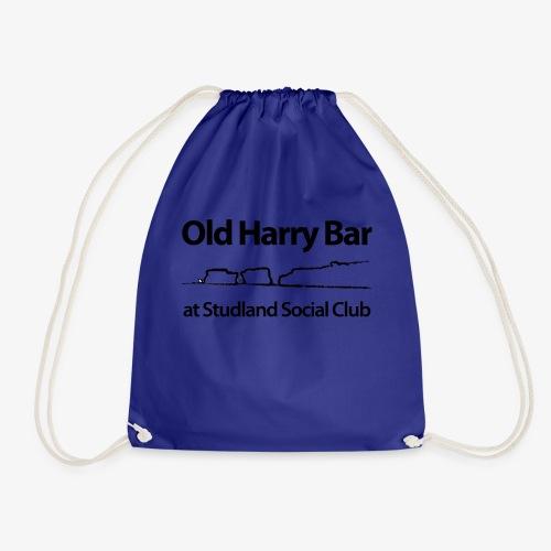 Old Harry Bar logo - black - Drawstring Bag