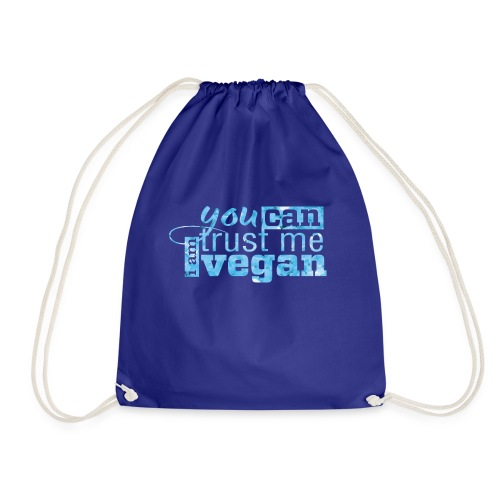 You can trust me - I am vegan - Drawstring Bag