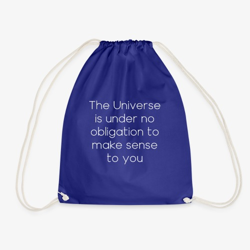 Neil deGrasse Tyson Quote - Drawstring Bag