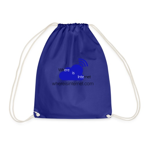 Where is the Internet - Drawstring Bag