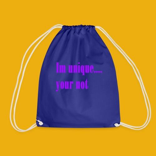 izel and halle unique merch - Drawstring Bag