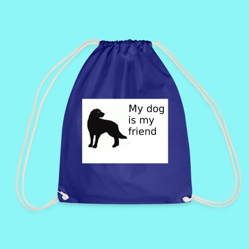 T-Shirt damski My dog is my friend - Worek gimnastyczny
