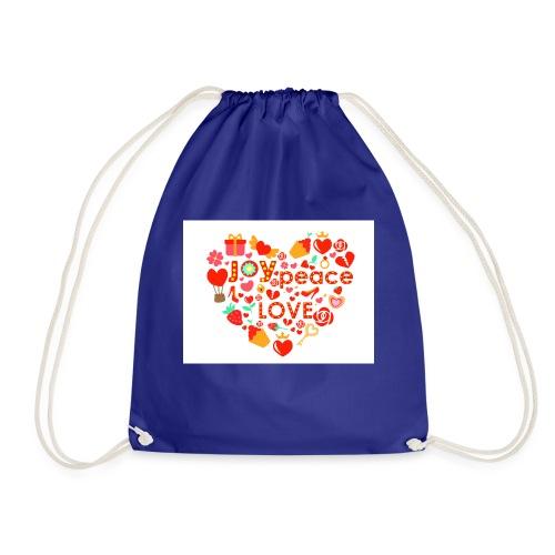 Love Peace Joy - Drawstring Bag
