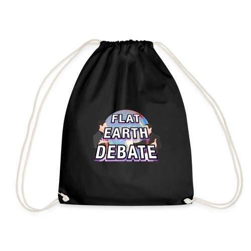 Flat Earth Debate Solid - Drawstring Bag