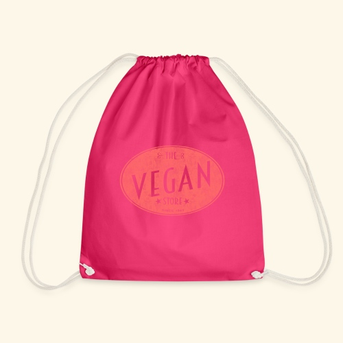 The Vegan Store - Vintage Store Logo design - Drawstring Bag