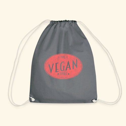 The Vegan Store - Vintage Store Logo design - Drawstring Bag
